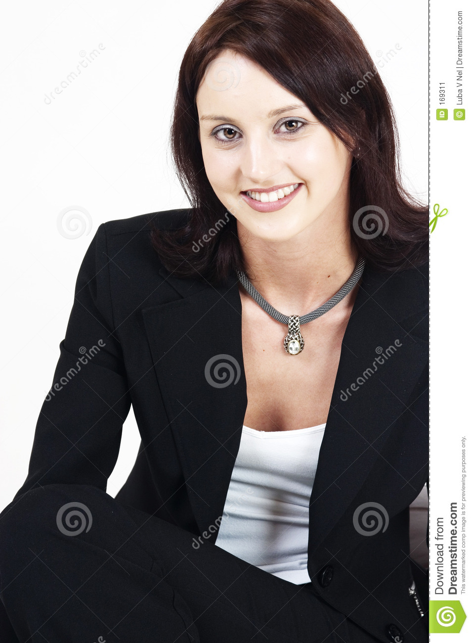 young executive woman in a relaxed posaition
