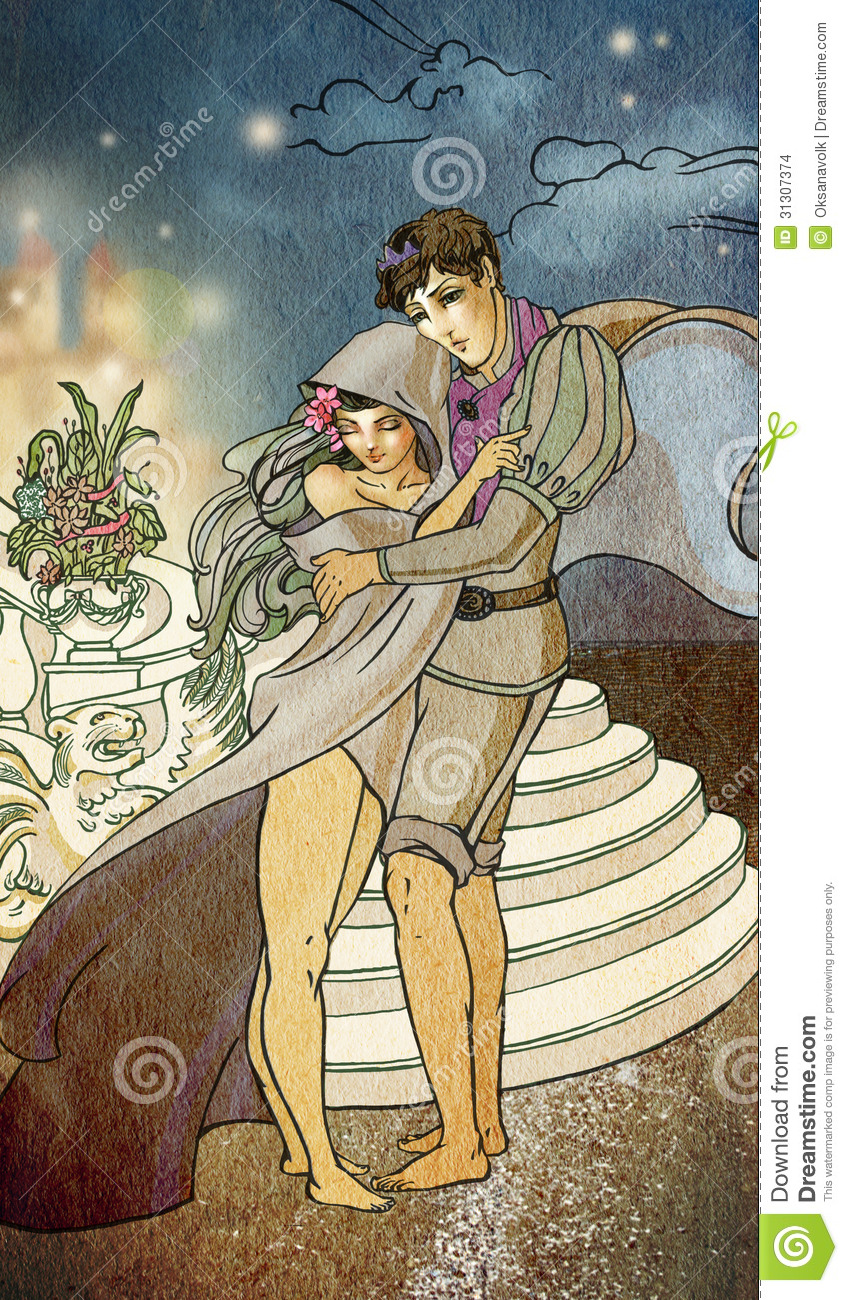 Young Fairy Tale Couple Of Lovers Hugging Stock Images Image 31307374