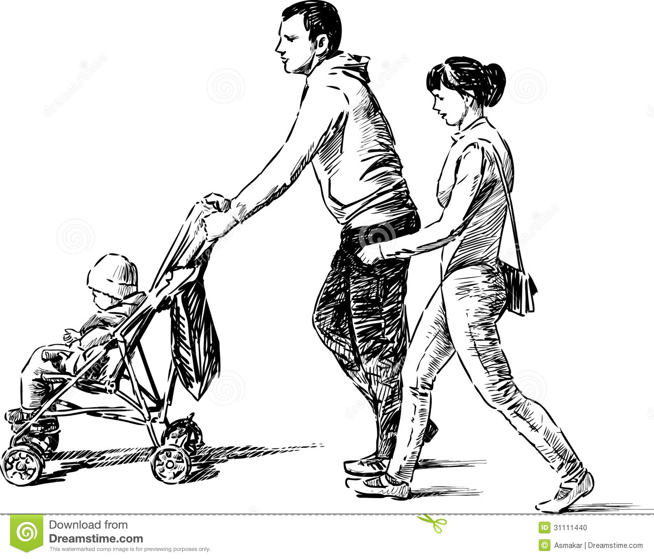 Young Family With A Baby Stock Photo Image 31111440