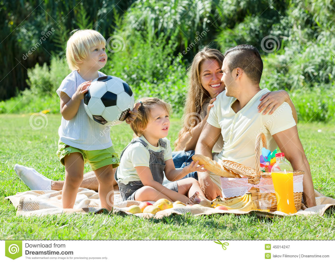 young family with children having picnic outdoor stock Family Picnic Day Clip Art Black Family Picnic Clip Art