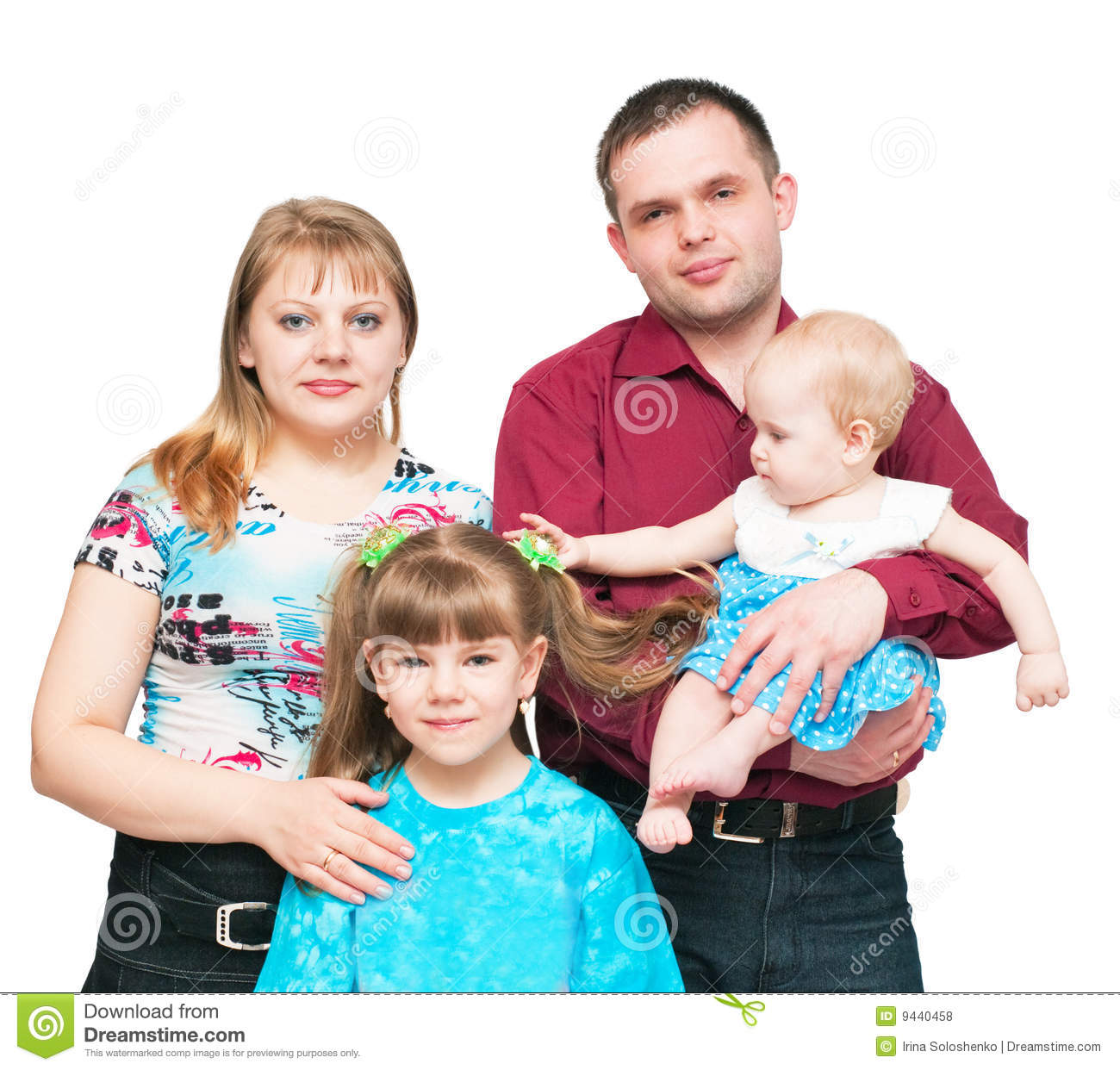 Young family with two daughters