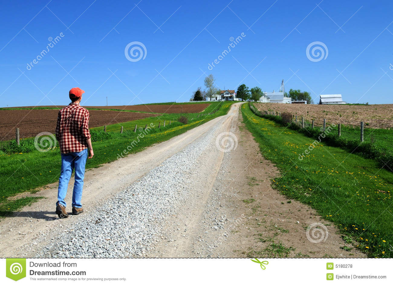 Young farmer headed home