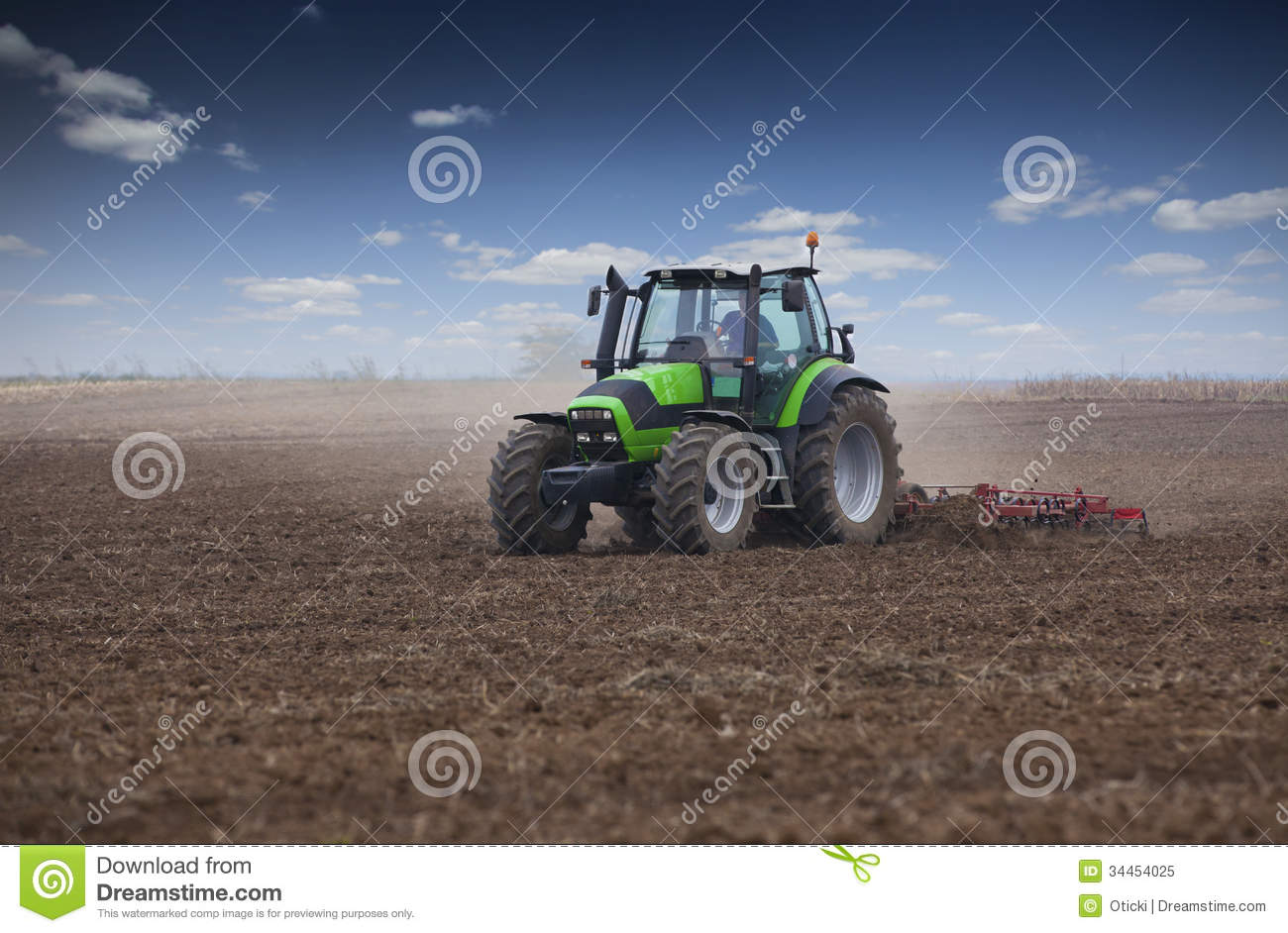 Young farmer in tractor