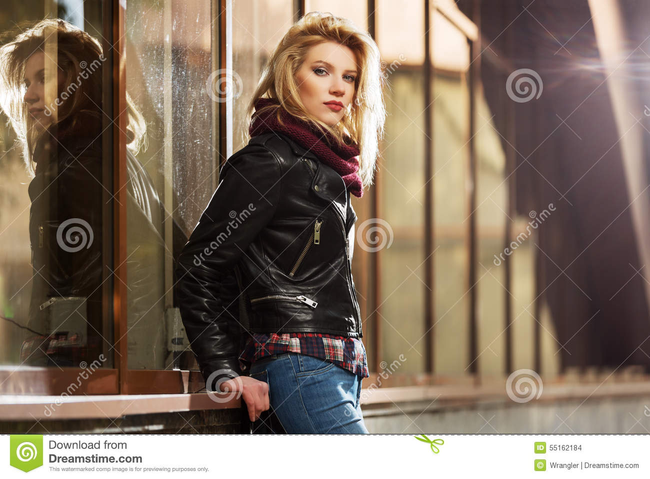 Young girls leather jacket-9064
