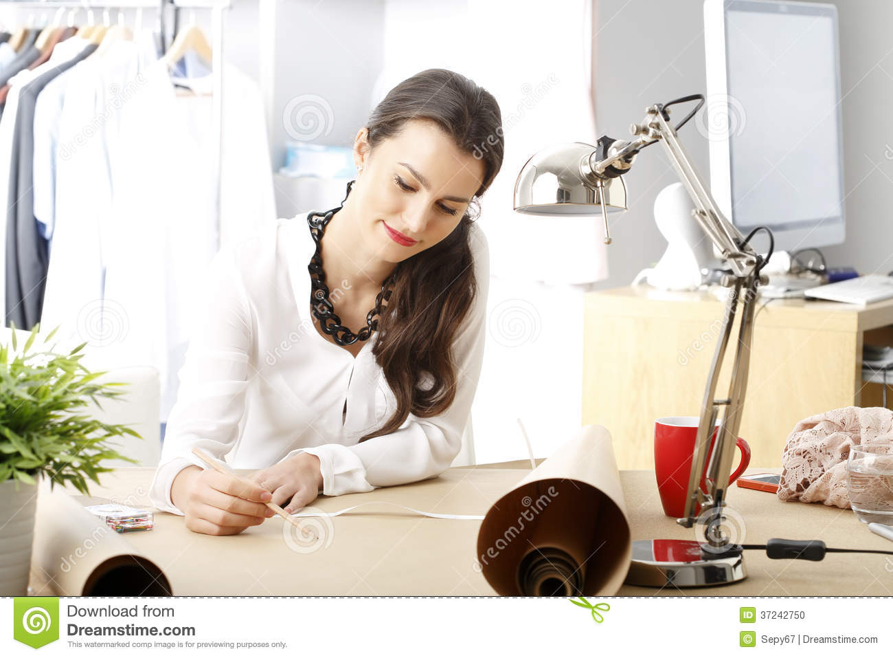 Young Fashion Designer Stock Photo Image Of Female Copy