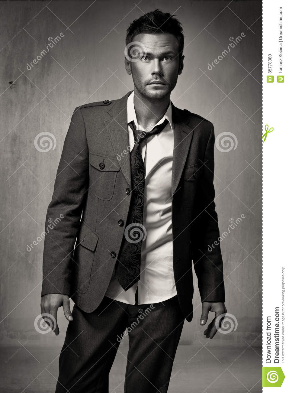 Young fashion handsome man model