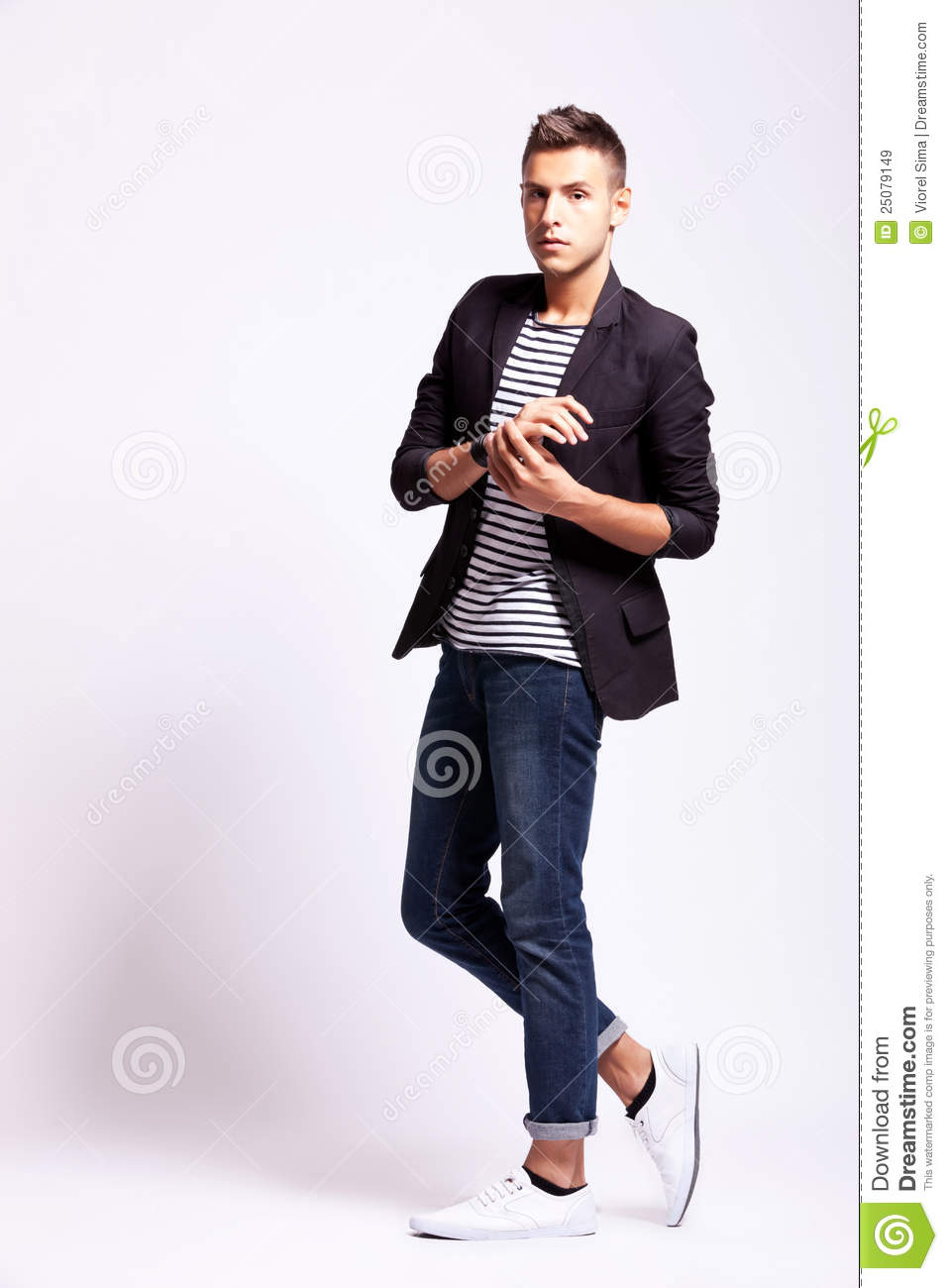 Model Poses For Fashion Photography Men