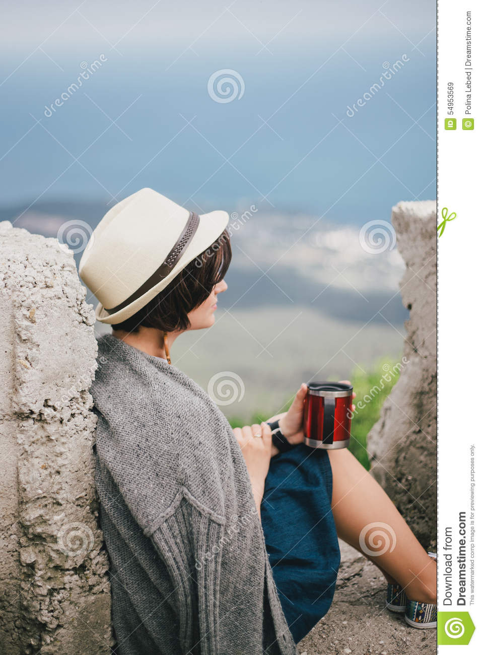Drinking Tea In Th Mountains