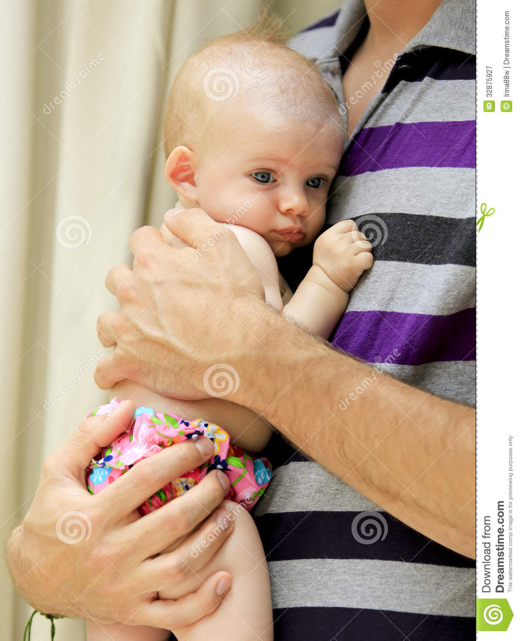 Young father is holding beautiful little baby girl royalty free stock photography image 32875927 3 month old baby swimming pool