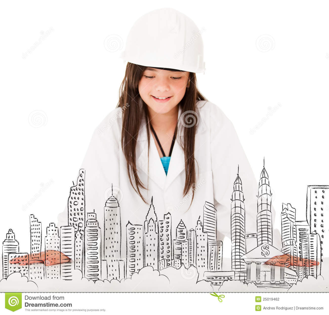 Young female architect...