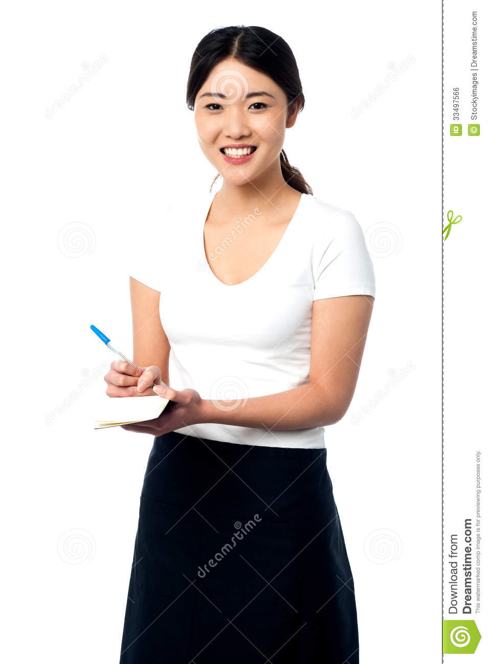 Young Female Assistant Taking Notes Royalty Free Stock Image - Image ... Female Accountant Clipart