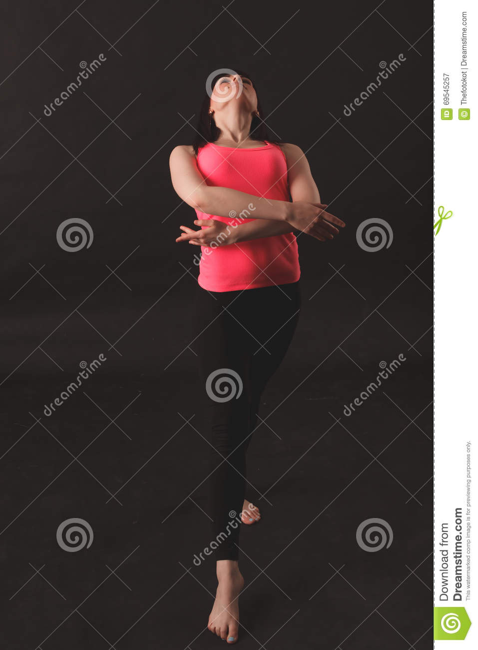 Young female dancing jazz
