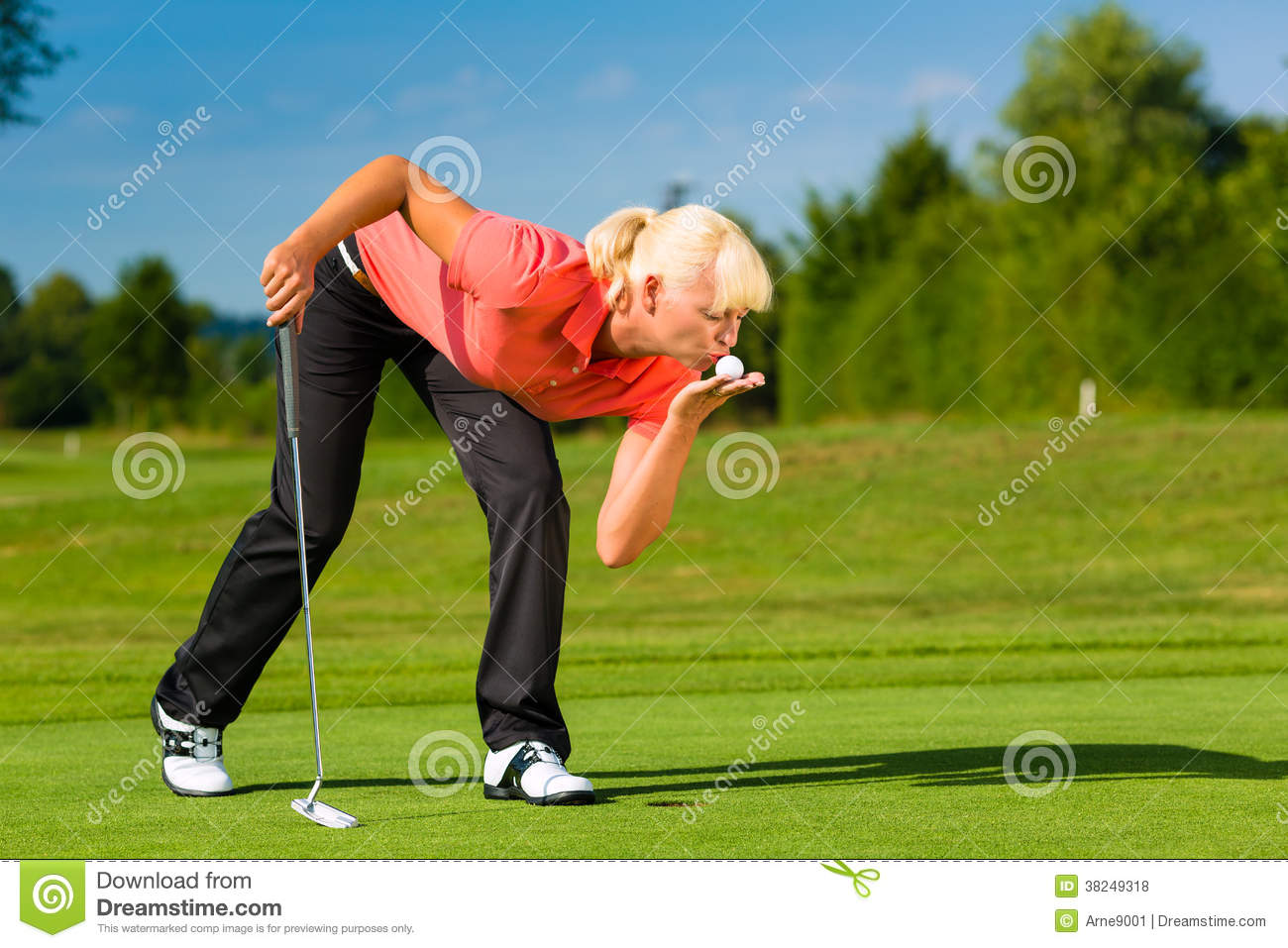 Two golfers on golf course stock image. Image of 2008