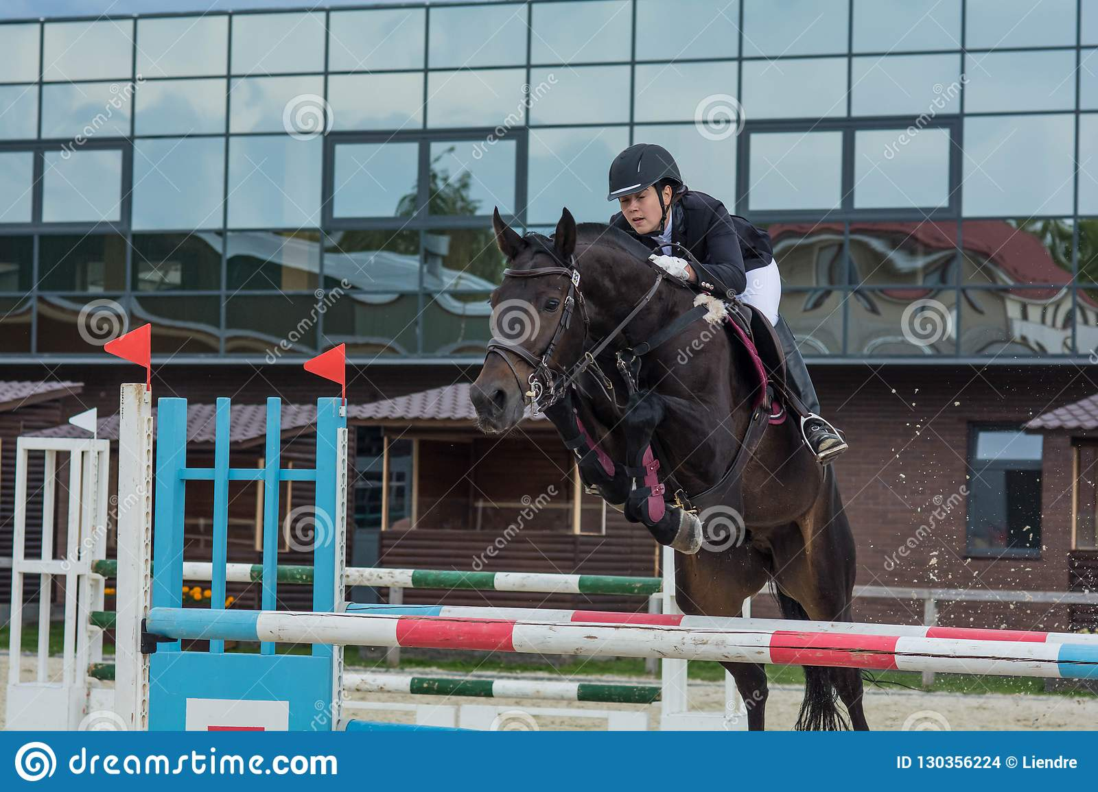 Show Jumping Summer Cup Competition 2018 Editorial Stock Image Image Of Jacket Beautiful 130356224