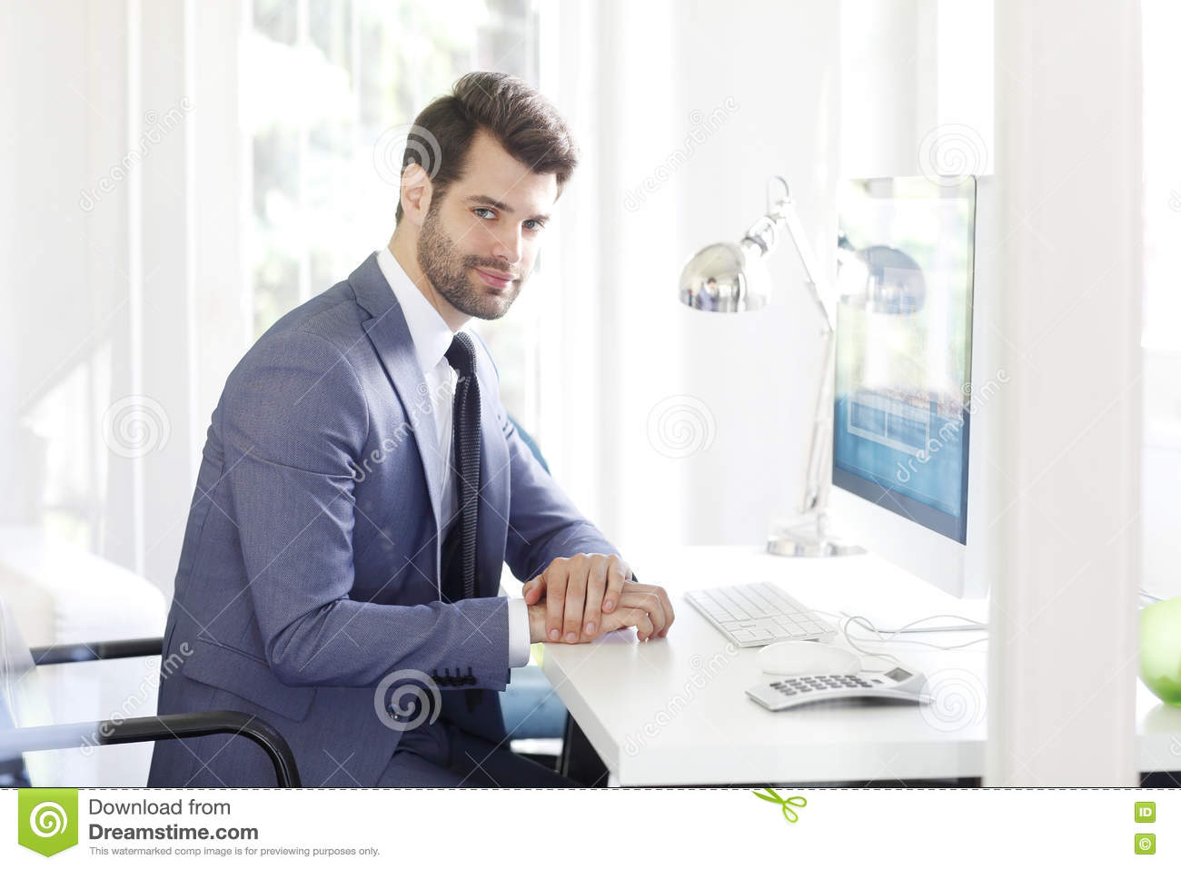 Young Financial Manager Stock Photo - Image: 72242879