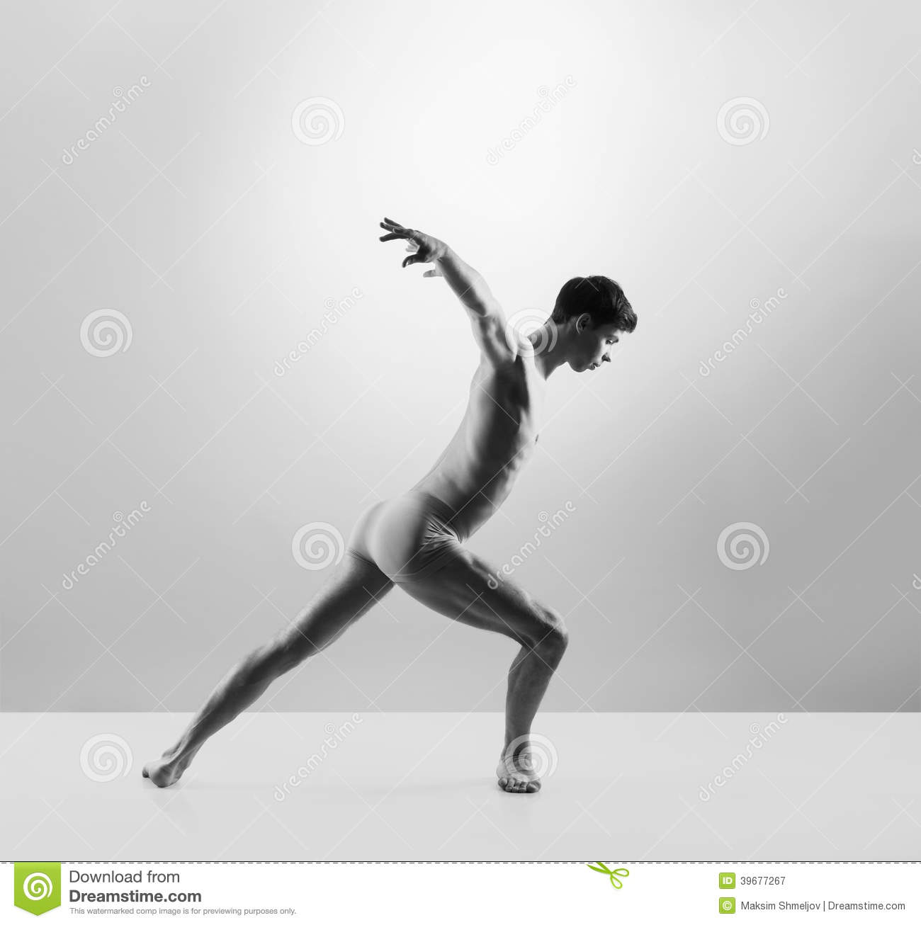 Young And Fit Male Ballet Dancer In A Studio Stock Photo - Image 39677267-8506