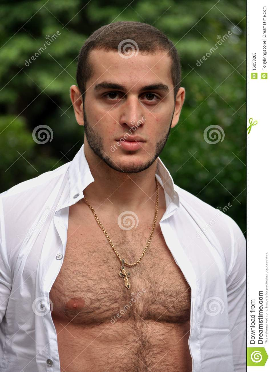 men chest Young hairy