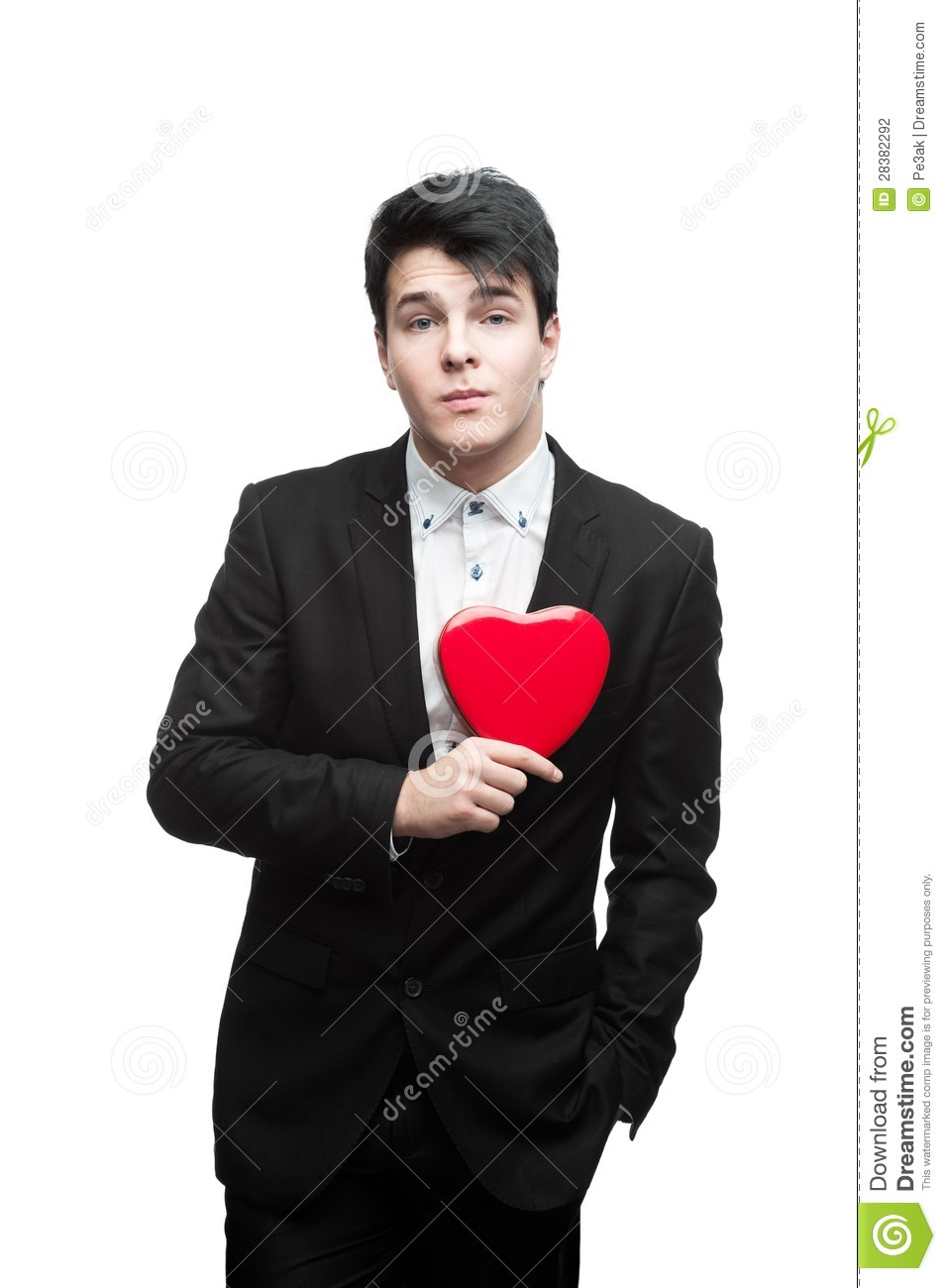 Young Funny Business Man On Valentine 39 S Day Stock