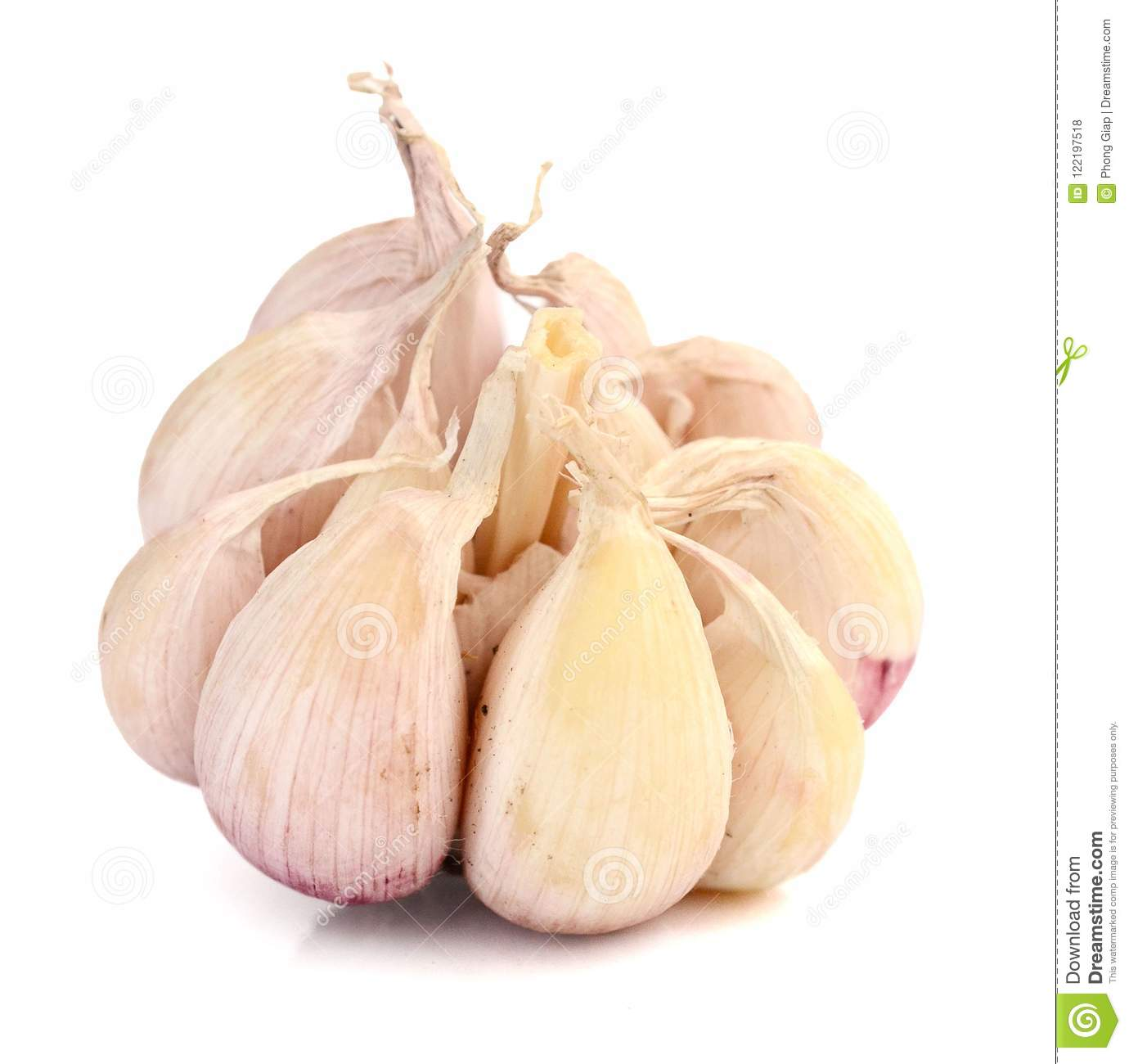When to clean the garlic