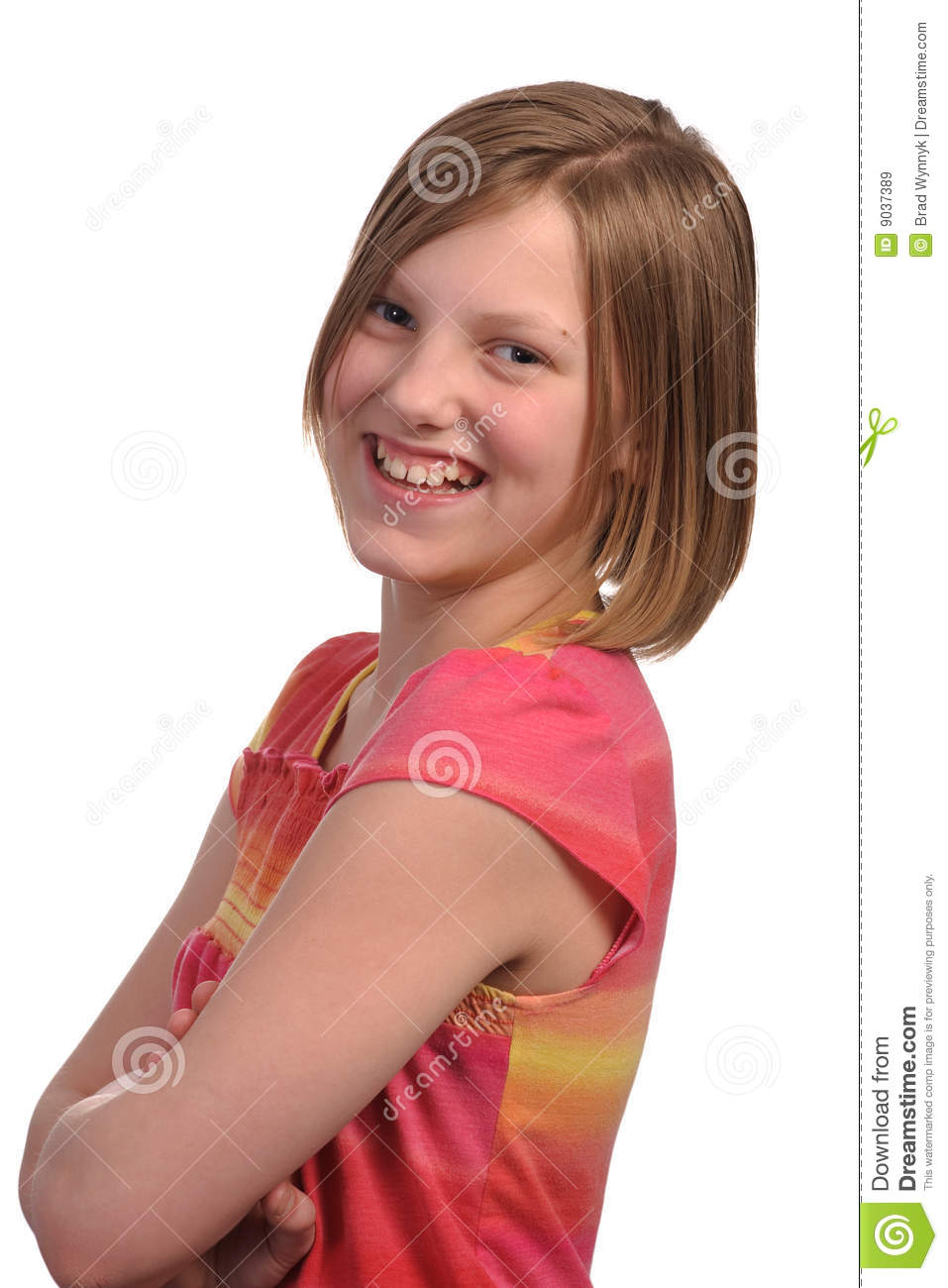 Young Pre Teen Girl Female Woman Torso Vertical Format: Young Girl Royalty Free Stock Images