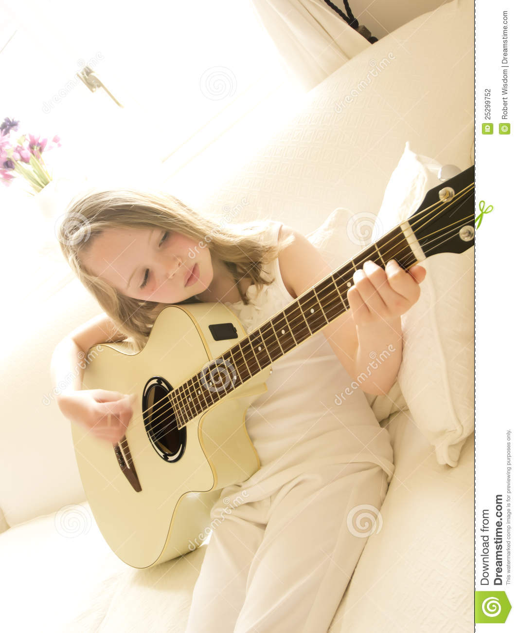 Girl Acoustic Guitars : young girl on a acoustic guitar 3 stock photo image of practice fingers 25299752 ~ Vivirlamusica.com Haus und Dekorationen