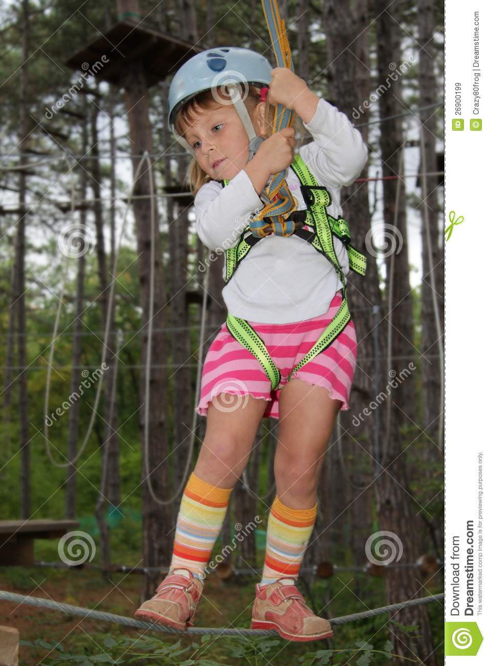 Young Girl In Adventure Park Royalty Free Stock Images ...