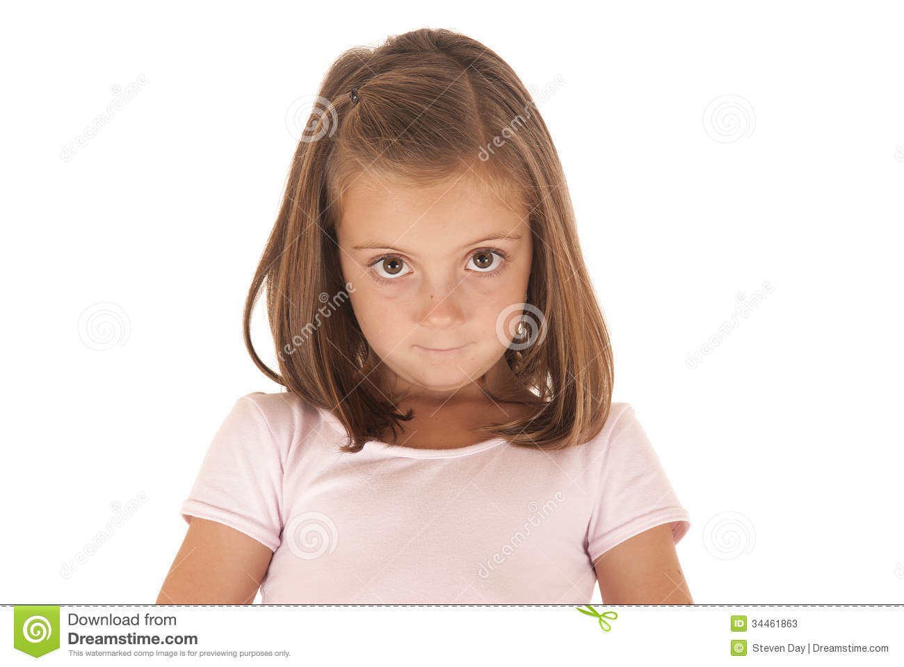 Young Girl With Big Eyes Looking At Camera With An Stock Photos - Image 34461863-5192