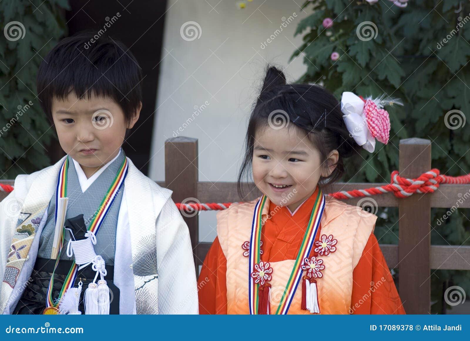 Young Girl And Boy In Kimono, Tokyo, Japan Editorial Stock ... - photo#50