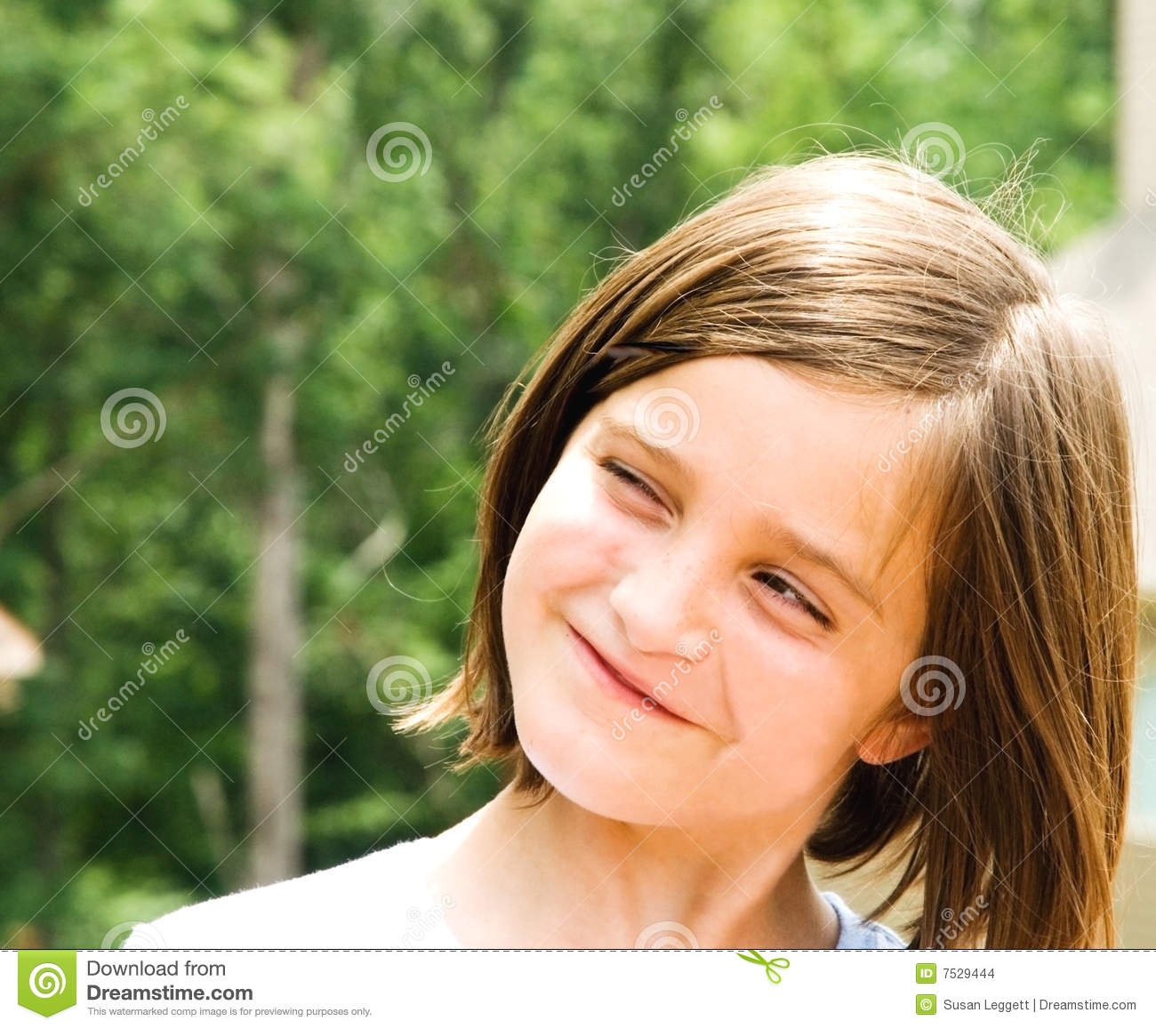 Young Girl Cute Expression Stock Image Silly