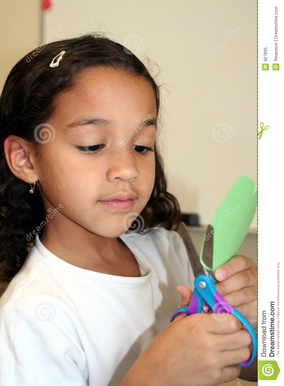 Young Girl Doing Crafts