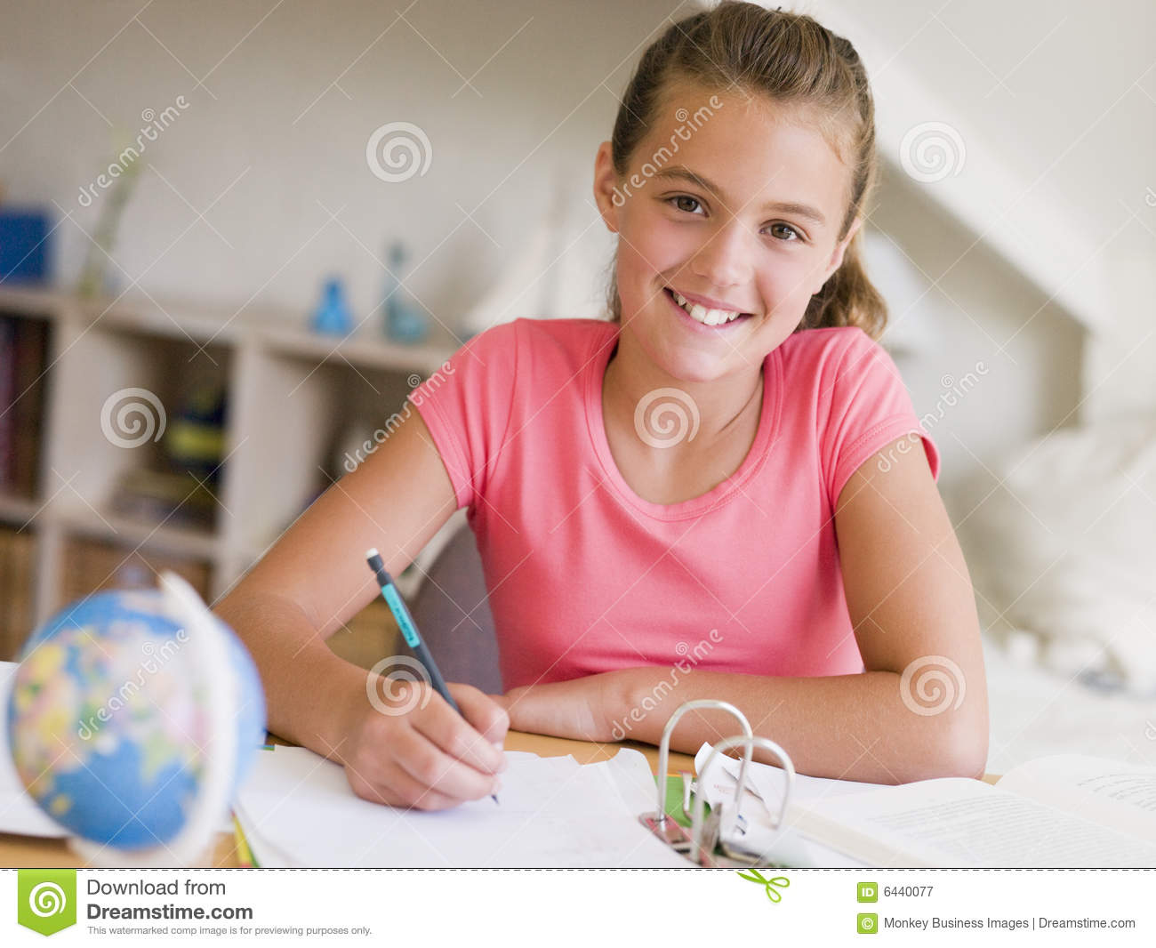 ... Doing Her Homework Royalty Free Stock Photography - Image: 6440077: dreamstime.com/royalty-free-stock-photography-young-girl-doing-her...