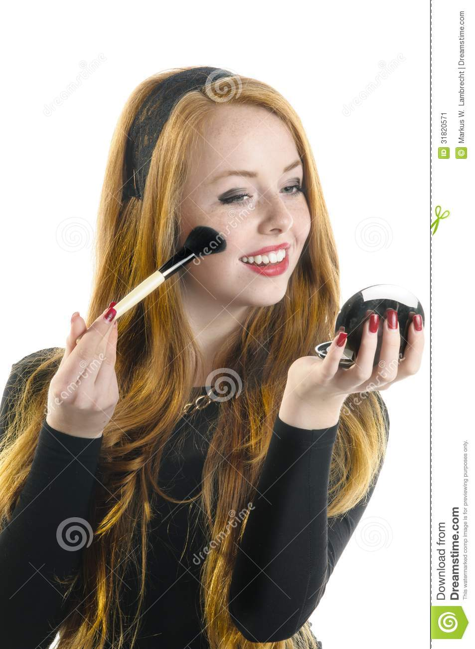 Young Girl Doing Rouge Stock Image Image 31820571