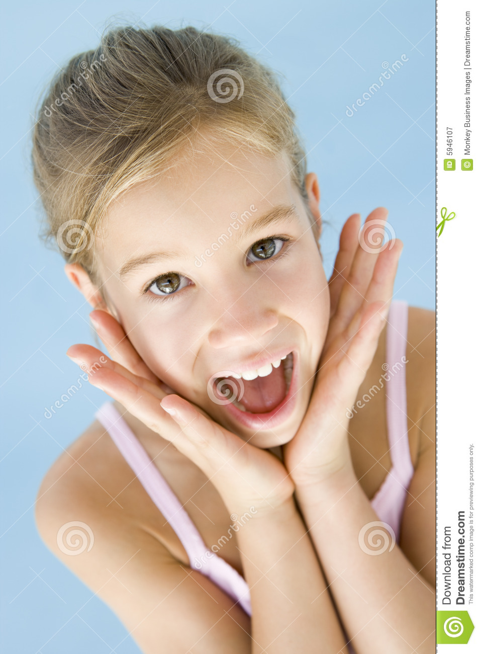 young girl excited and happy stock image   image of smile