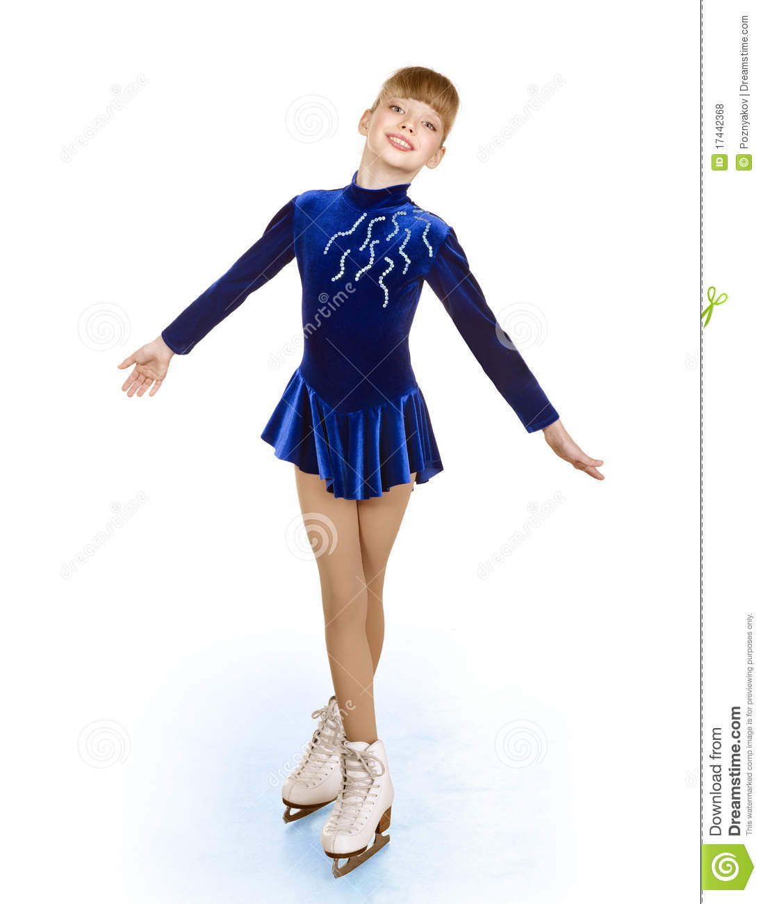 Young Girl Figure Skating.. Royalty Free Stock Photos - Image ...
