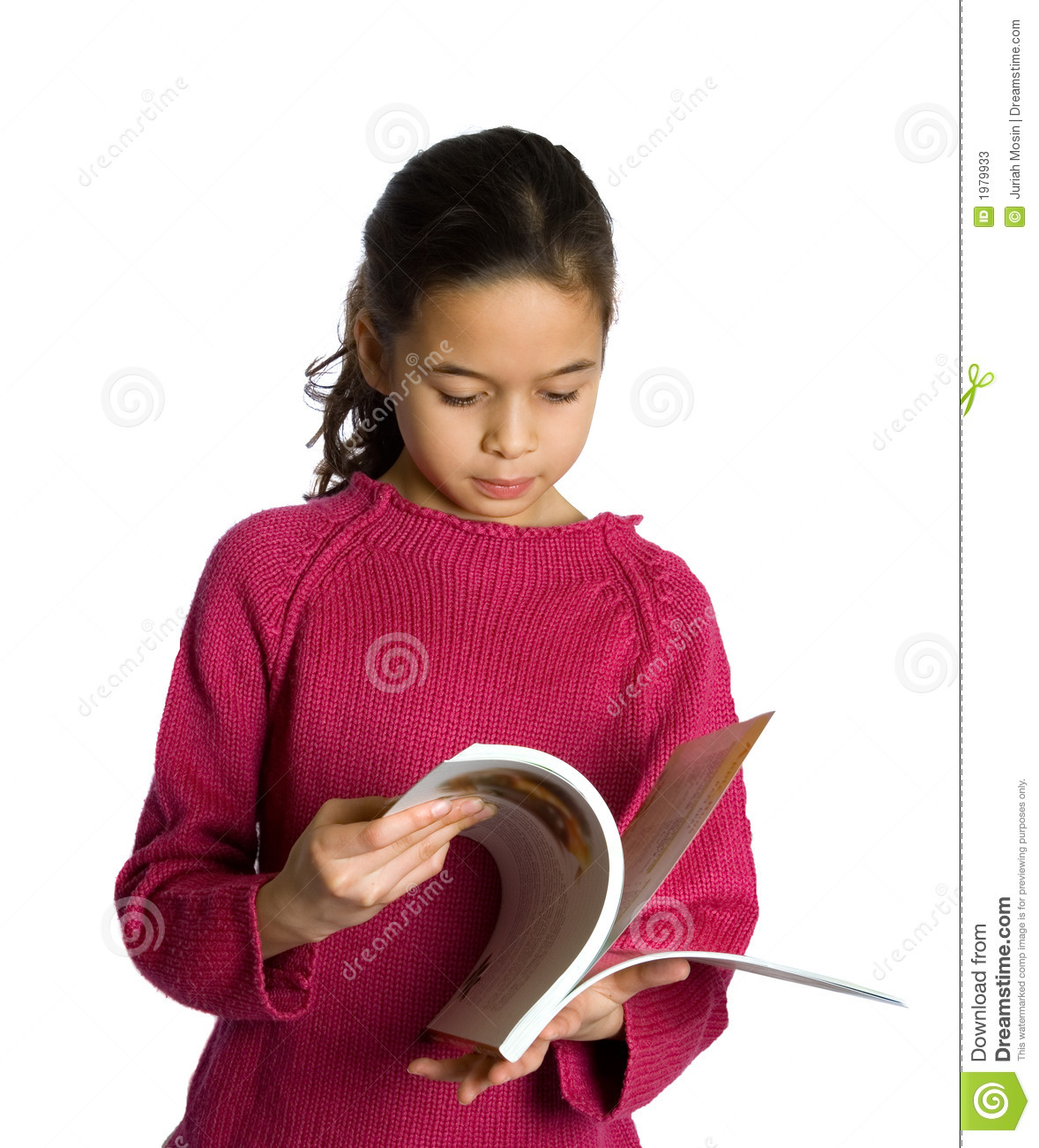What I Blog About When I Blog About Books Notd Girl On: A Young Girl Flipping Through Her Book Stock Image
