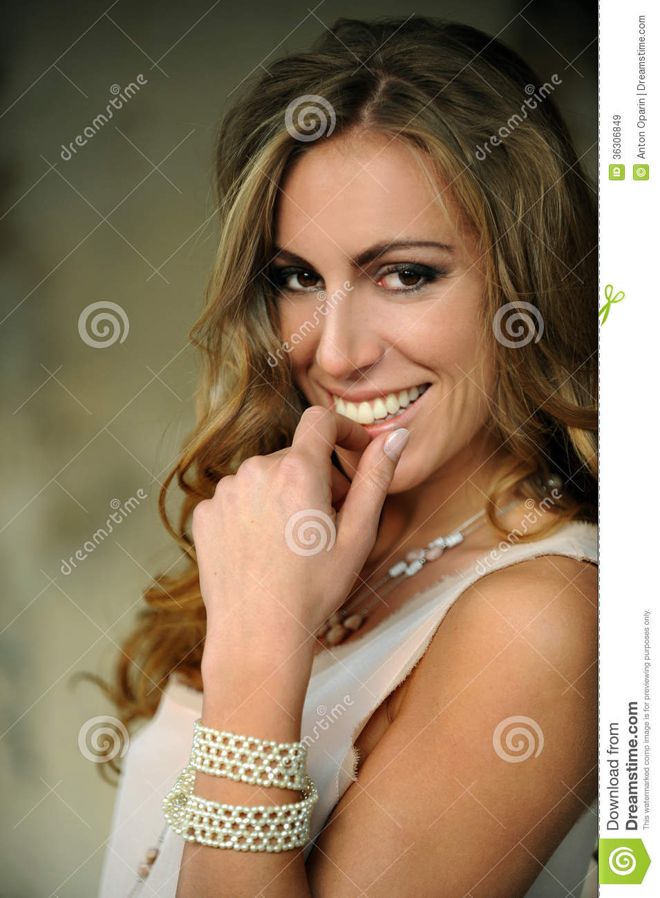 Young Girl Flirting In NYC Subway Royalty Free Stock