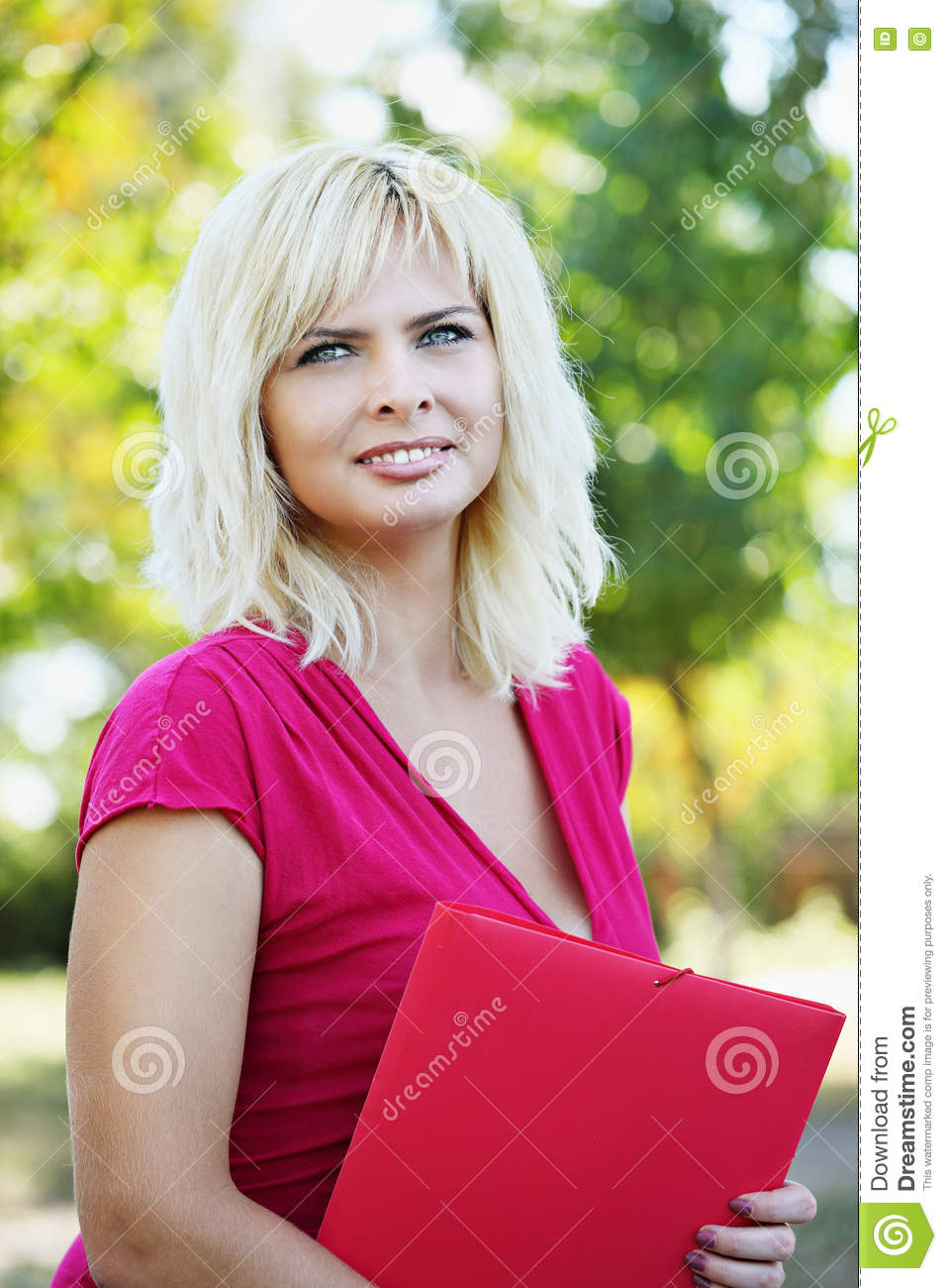 Young girl with folder