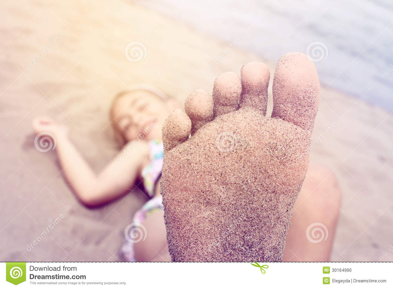 Young Girl Foot Stock Photo - Image: 30164990