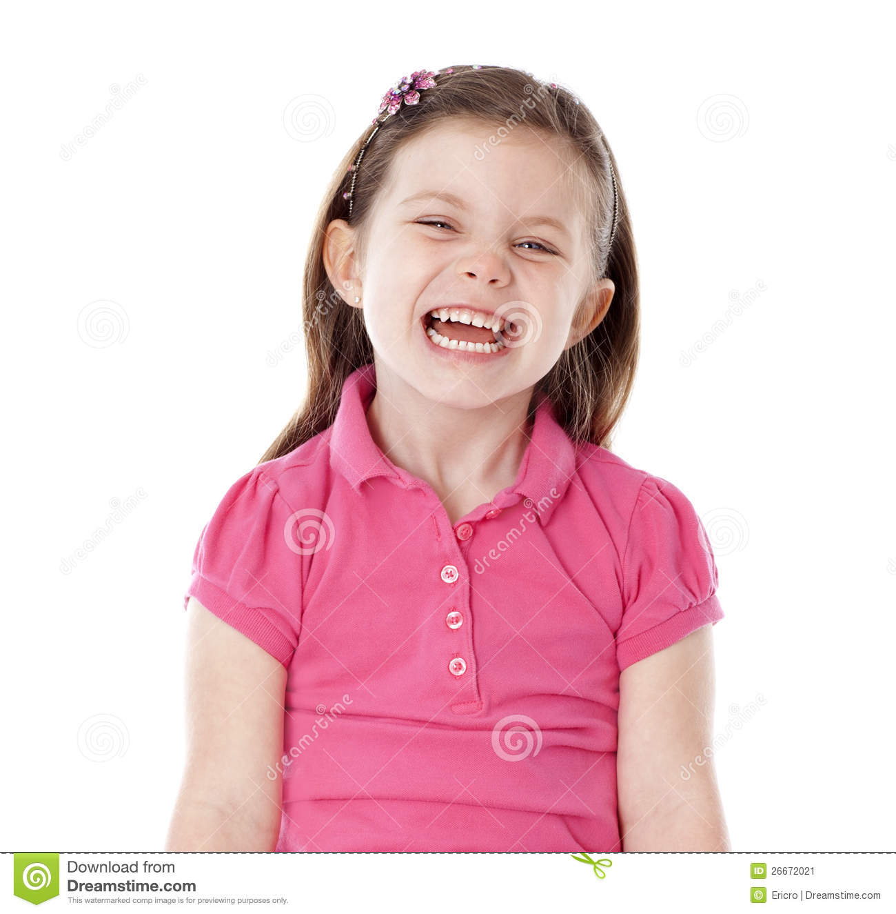 Young Girl Giggling Stock Image - Image: 26672021
