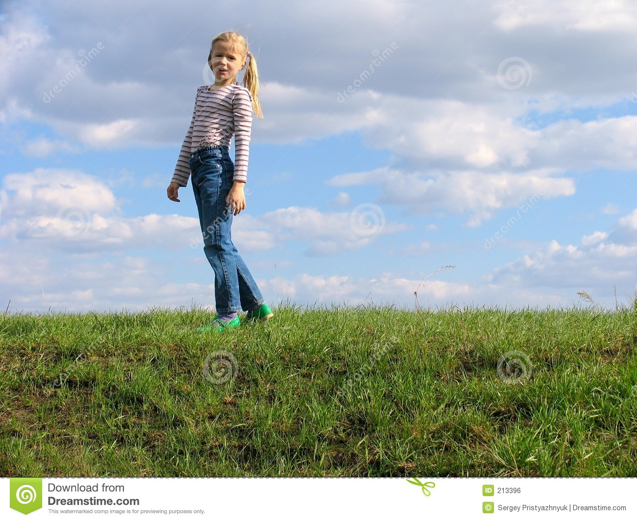 Young girl on grass