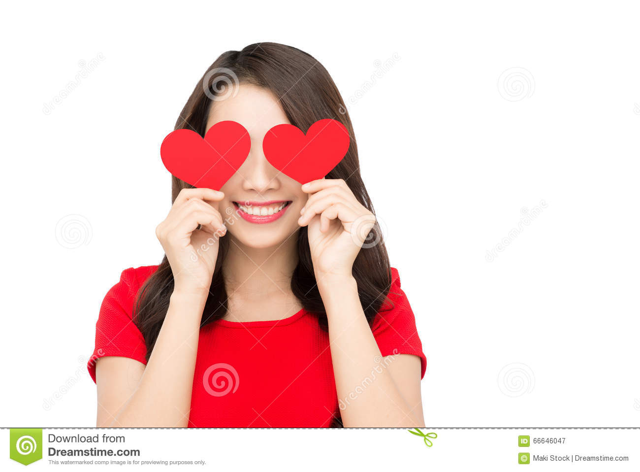 Young Girl Holding A Paper Heart In Hand Stock Image - Image of ...