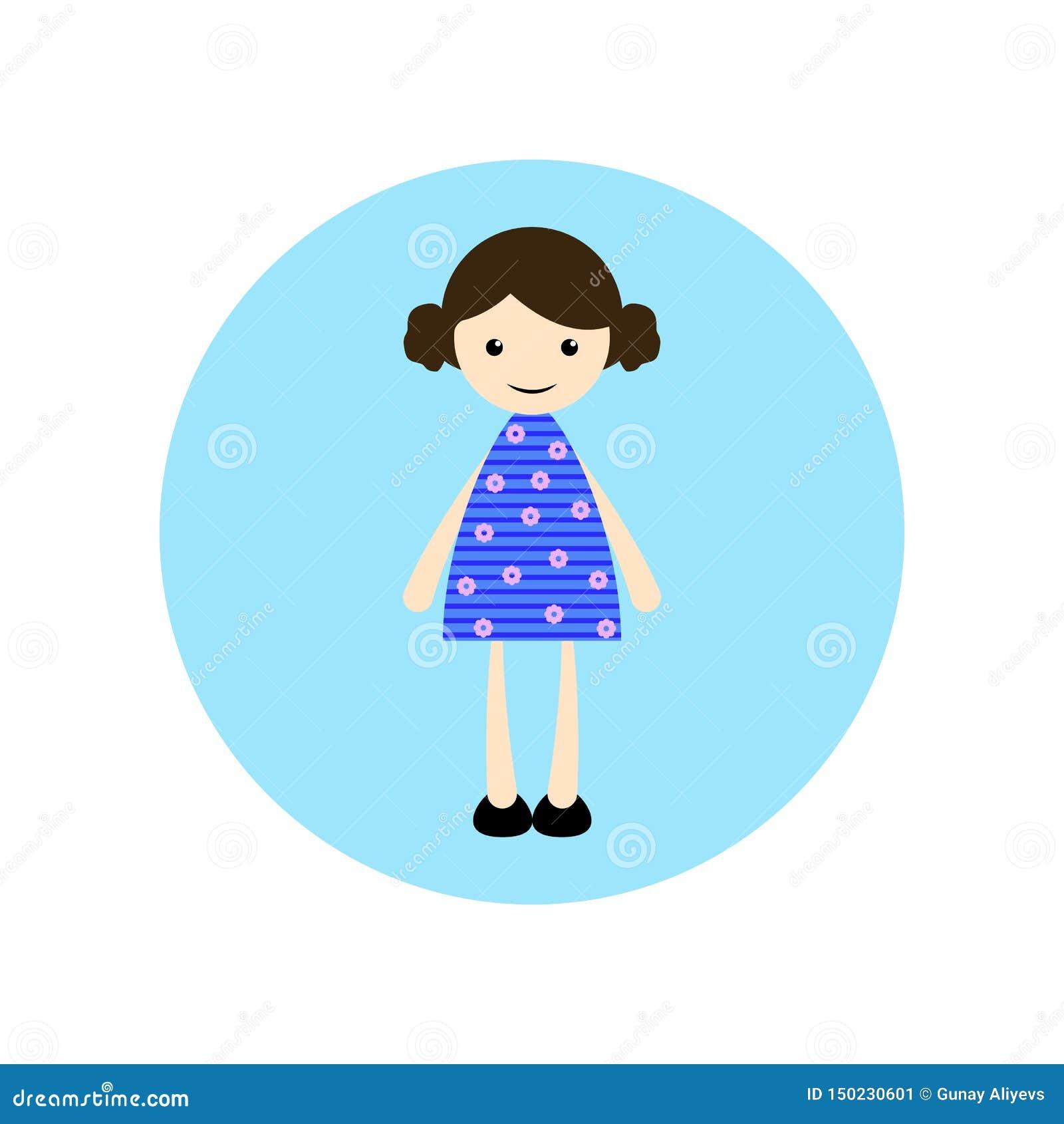 Young, girl illustration, flat animated cartoon illustration