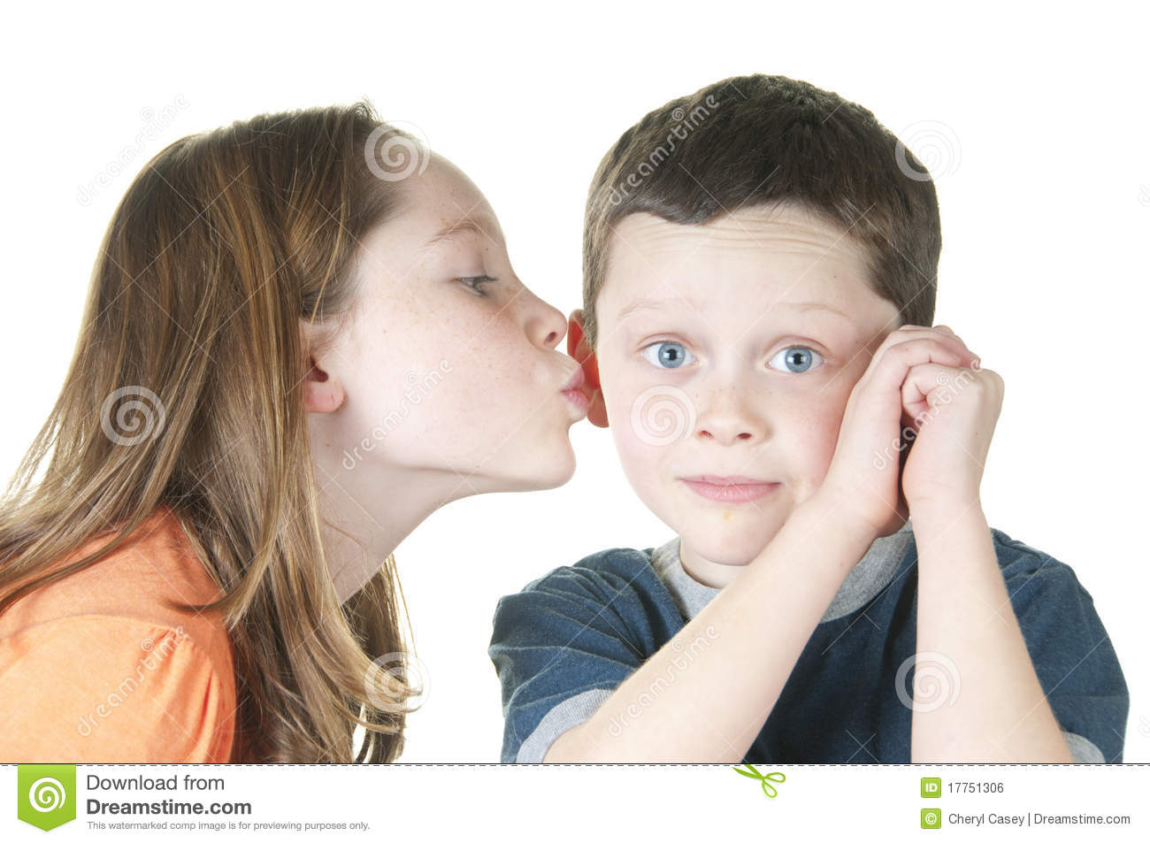 boy girl kissing older Young