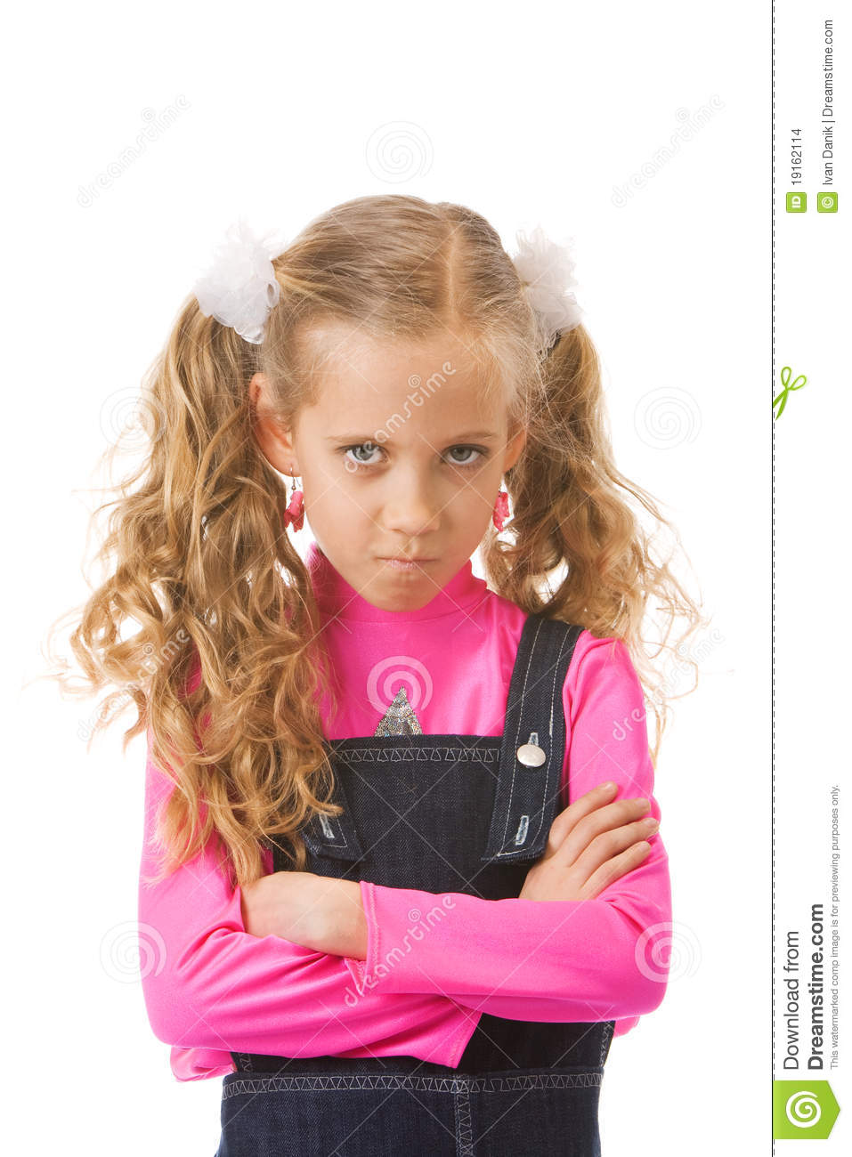 Young Girl Looking Upset Stock Images