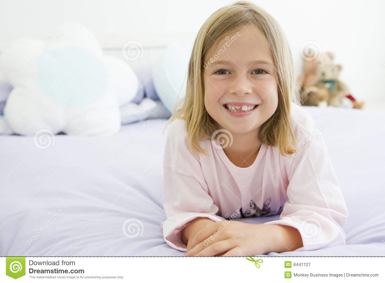 image of young girl in pajamas