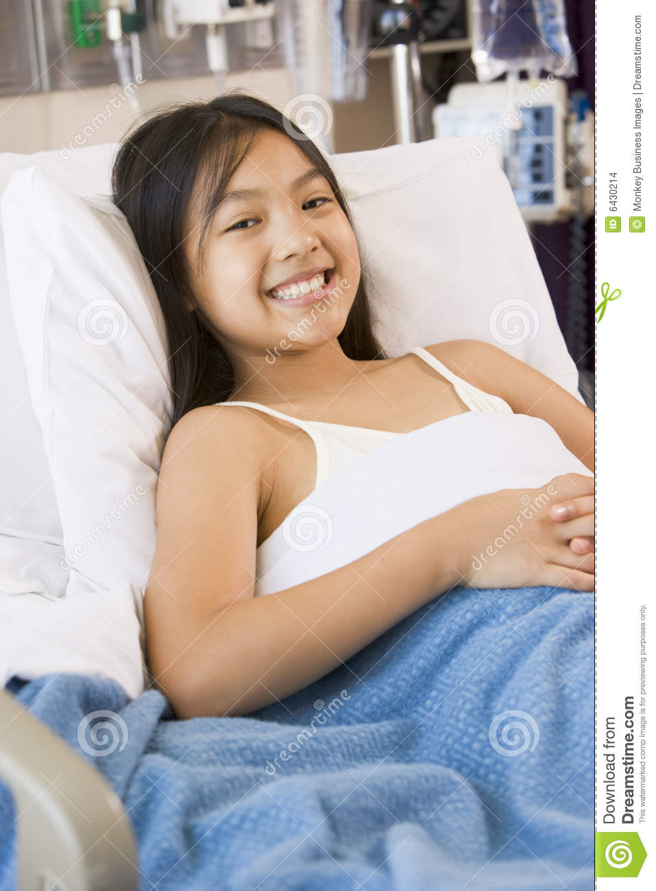 Young Girl Lying In Hospital Bed Stock Images Image 6430214