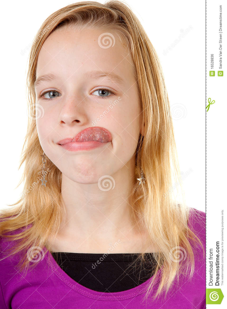 Young Girl Makes Funny Face Royalty Free Stock Image - Image: 16528836