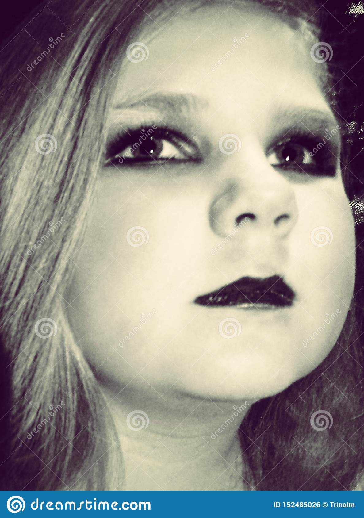 Young girl with makeup