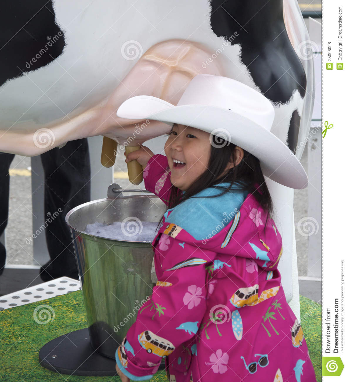 Young Girl Milking A Cow Editorial Stock Photo Image