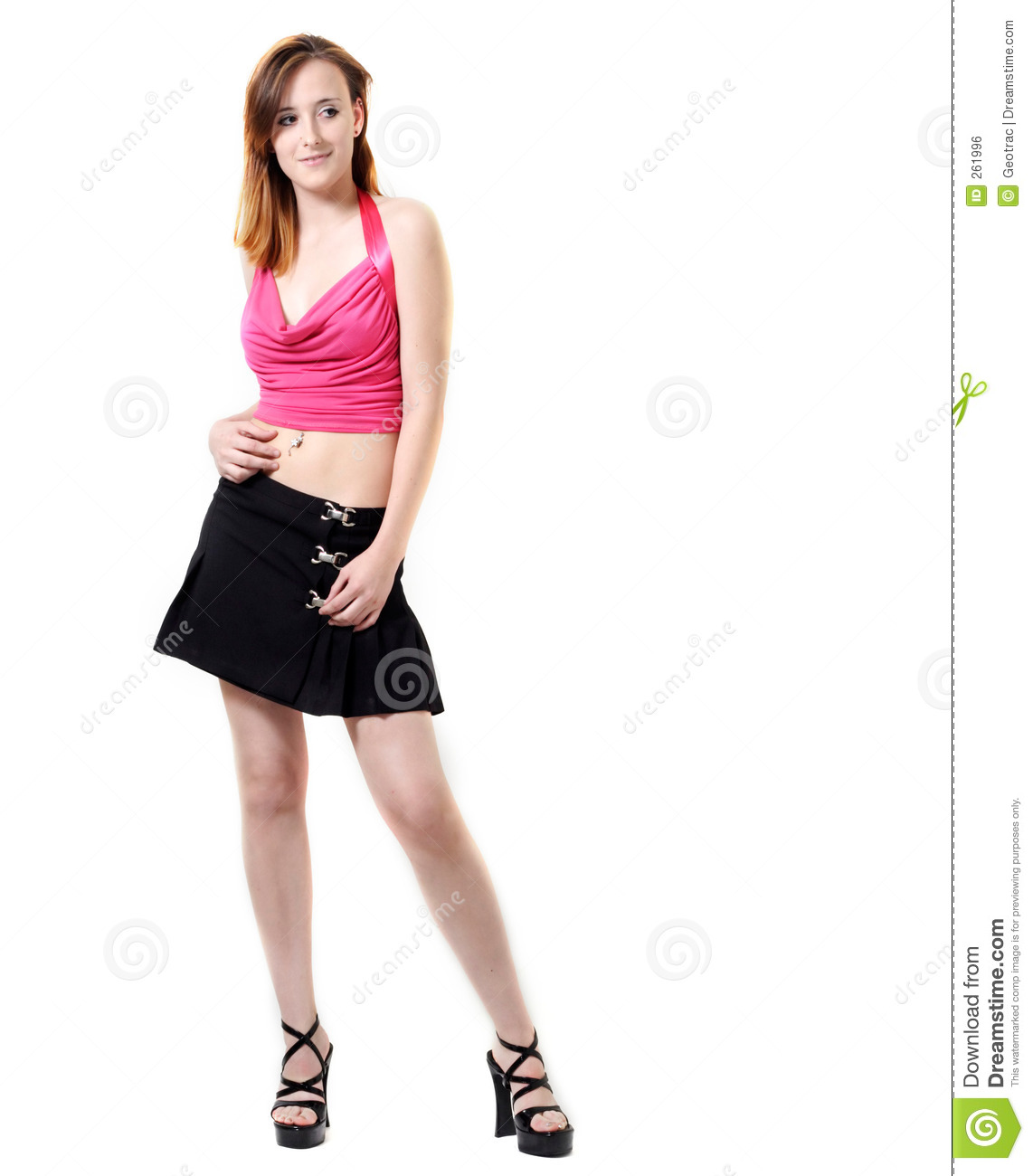 debda0a8982c Young Girl In Modern Fashion Stock Photo - Image of skirt